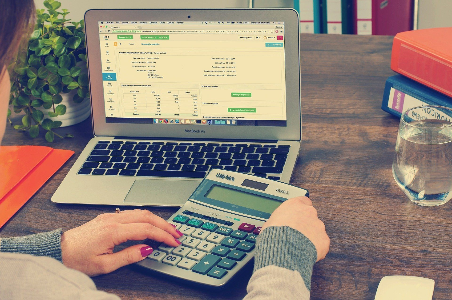 Image of Accounting on a laptop